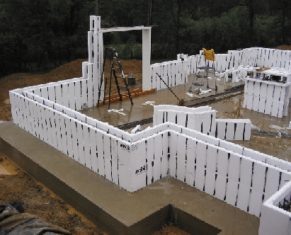 Icf home often referred to as insulated concrete forms for Foam block construction
