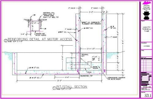 Aquatic treadmill tank precision structural engineering for Structural design of swimming pool pdf