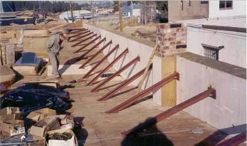 Re Roofing Parapet Bracing Precision Structural