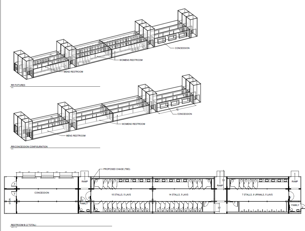 Sides Overall Arch Plans - Fortress Obetz Stadium