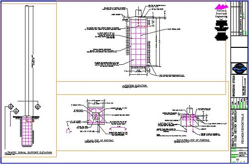Concrete Light Pole Base Design : Traffic light pole precision structural engineering