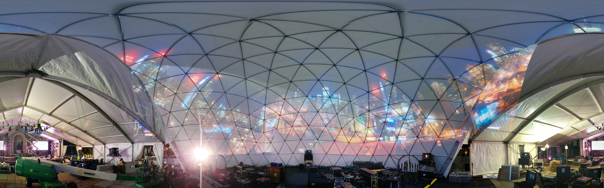 Temporary Dome - Superbowl 2014