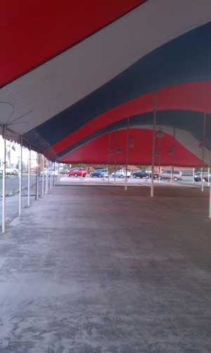 tent interior - fabric structure