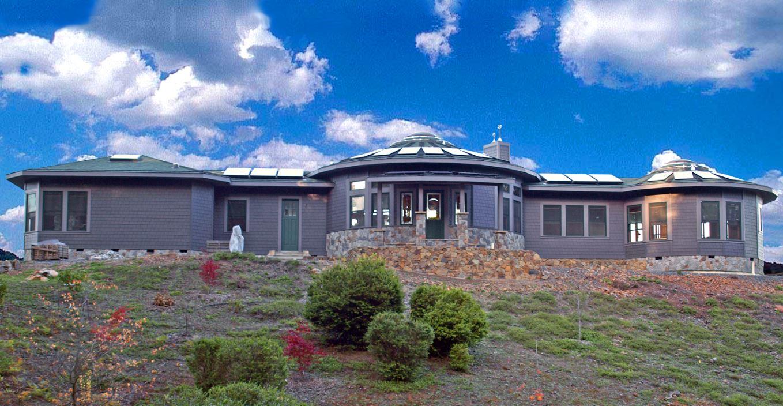Mandala round home exterior 2
