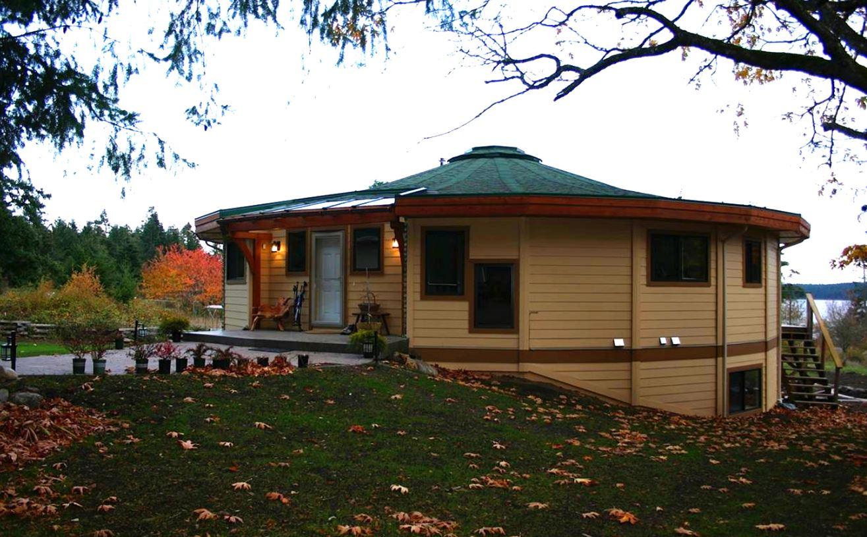 Mandala round home exterior