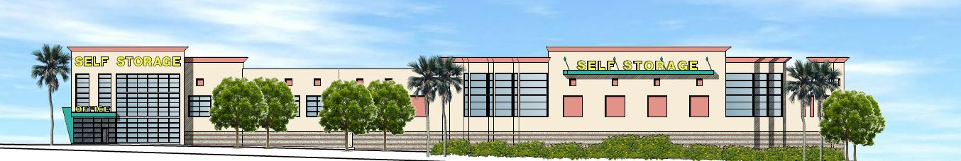 Self Storage Facility Rendering