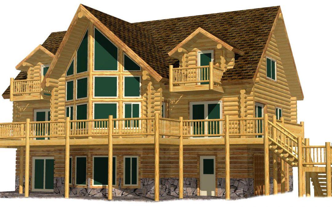 Lazarus Log Home 217-13