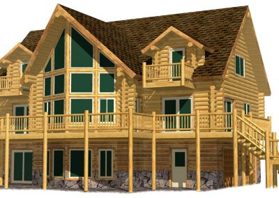 Lazarus Log Home 217-13