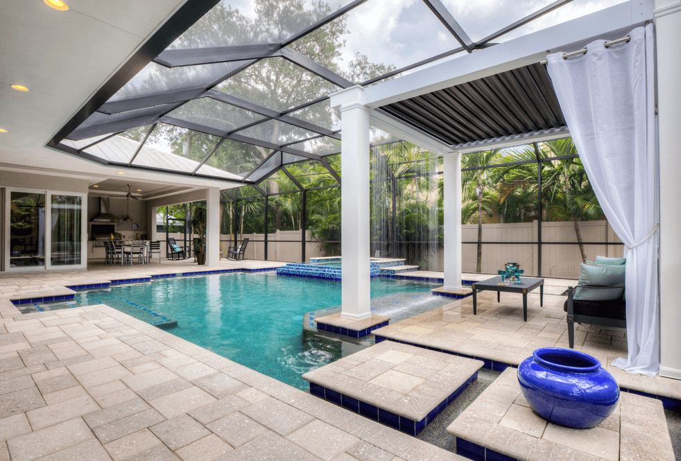 Pool side canopy