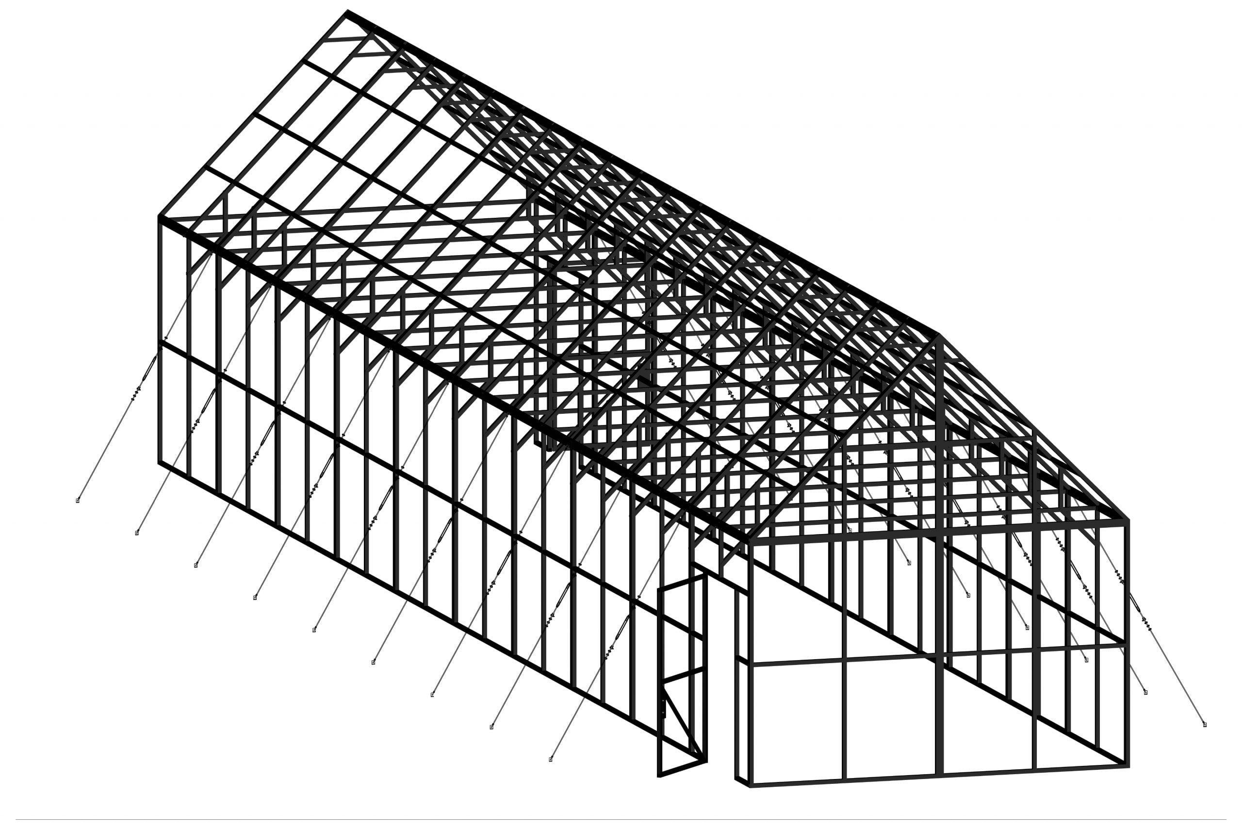Greenhouse-Frame-Steel
