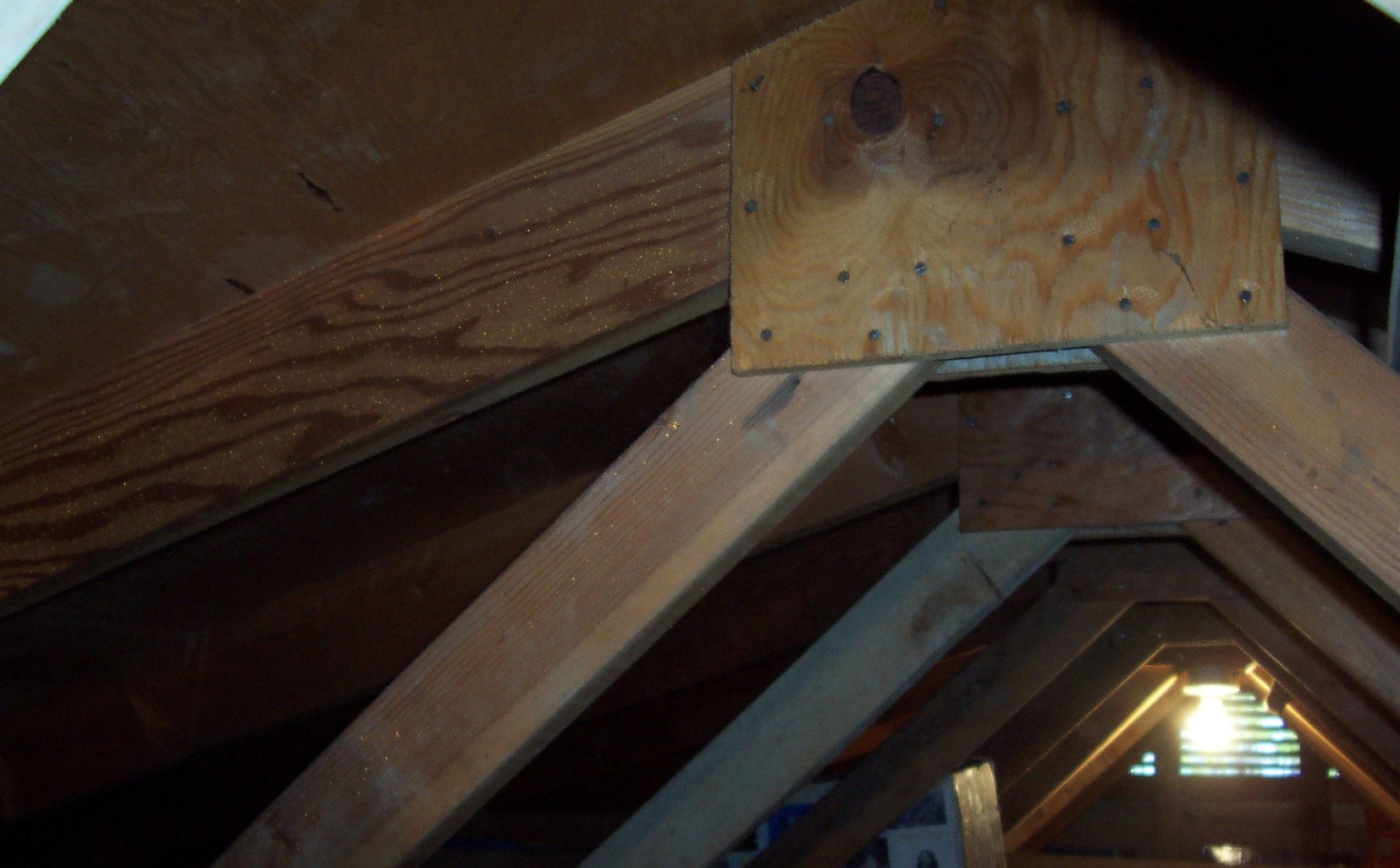 Plywood-Gusset-Plate-Site Built-Trusses