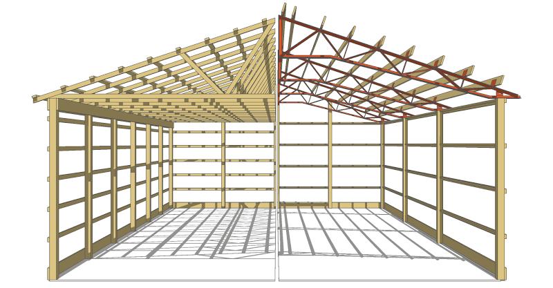 Wood-VS-Steel-Trusses