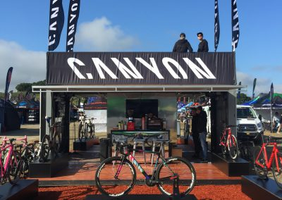Canyon Bicycles Shipping Container Exhibit