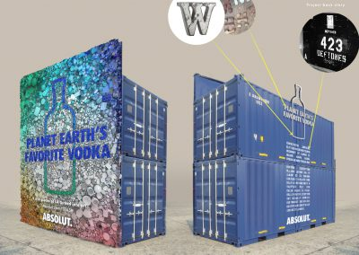 Absolut Vodka Shipping Container Advertisement
